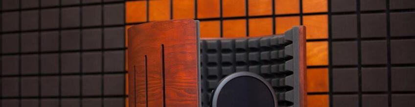акустический экран в студии звукозаписи