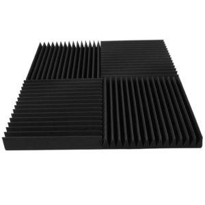 Акустический поролон «Пила 100» (Комплект из 4-х панелей 50*50 см) | Чёрный графит