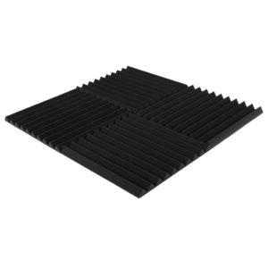 Акустический поролон «Пила 30» (Комплект из 4-х панелей 50*50 см) | Чёрный графит