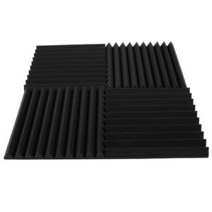 Акустический поролон «Пила 50» (Комплект из 4-х панелей 50*50 см) | Чёрный графит