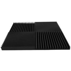 Акустический поролон «Пила 70» (Комплект из 4-х панелей 50*50 см) | Чёрный графит