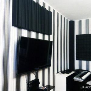 """Звукопоглощающая и звукорассеивающая декоративная панель """"Пирамида"""" из акустического поролона для студии звукозаписи"""