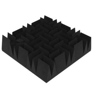 Акустический поролон клин 140 дабл (50 х 50 см) черный графит UA Acoustics