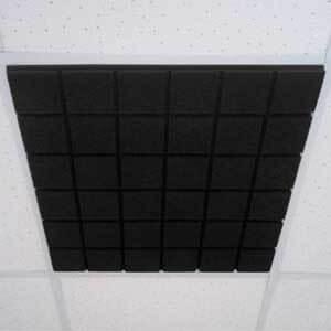 """Акустическая плита для потолочных систем """"Квадра"""" (Черный графит)"""
