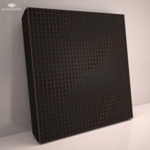 """Звукопоглощающая акустическая панель """"Wilds"""" Base Black"""