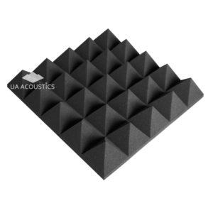 """Звукопоглощающий поролон акустический """"Пирамида 100 XL"""". Черный графит"""