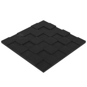 Акустический поролон пазл 50 мм (1 х 1 м) черный графит UA Acoustics