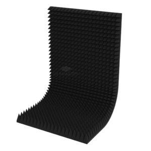Акустический поролон пирамида 120 мм (2 х 1 м) черный графит UA Acoustics