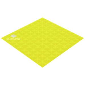 акустический поролон пирамида xl (20 мм) желтый