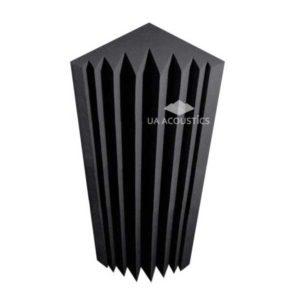 Угловая бас ловушка «Клин» (25х25х100 см) — Черный графит