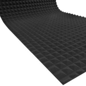 Акустический поролон пирамида (не обрезной) 20 мм (2 х 1 м) черный графит UA Acoustics