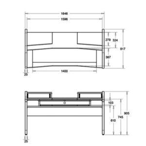 Стол для студии звукозаписи «StudioPlace» Черно-белый (Раздельная)